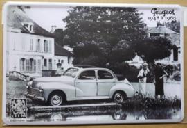 Metaalplaat Peugeot 1948-1960