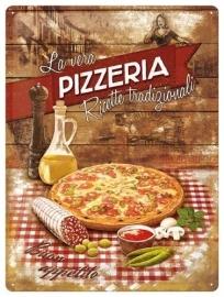 Metaalplaat Pizzeria