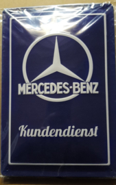 Metaalplaat Mercedes-Benz Kundendienst