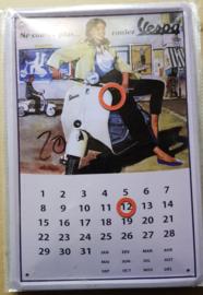 Metaalplaat Vespa Kalender