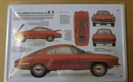 Metaalplaat Alfa Romeo Giulietta