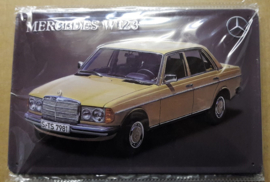 Metaalplaat Mercedes W123