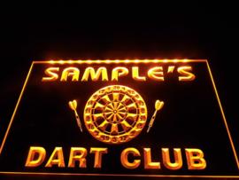 """3D ledverlichting """"Dart Club"""" te personaliseren met je eigen naam!"""