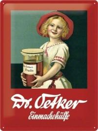 Metaalplaat Dr Oetker