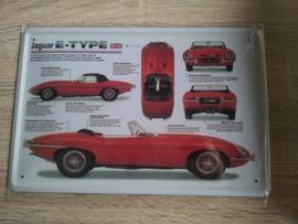 """Metaalplaat Jaguar """"E"""" Type"""