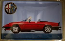 Metaalplaat Alfa Romeo 20 x 30 cm