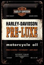 Metaalplaat Harley Davidson Pre-Luxe