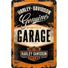 Metaalplaat Harley Davidson Garage