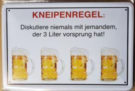 Metaalplaat bier