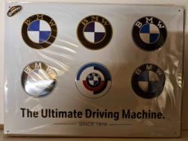 Metaalplaat BMW 30 x 40 cm in reliëf