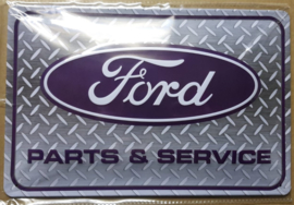Metaalplaat Ford Parts & Service