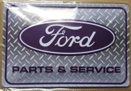 Metaalplaat Ford Parts & Service