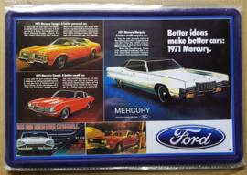 Metaalplaat Ford Mercury 1971