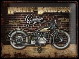 Metaalplaat Harley Davidson Genuine