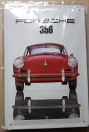 Metaalplaat Porsche 356