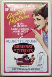 Metaalplaat Audrey Hepburn