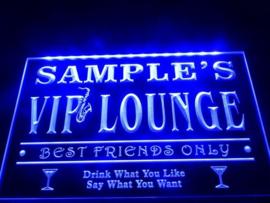 """3D ledverlichting """"VIP Lounge"""" te personaliseren met je eigen naam!"""