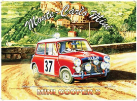 Metaalplaat Mini Cooper S Monte Carlo