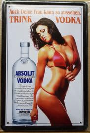 Metaalplaat Vodka