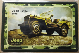 Metaalplaat Jeep Willys 1942