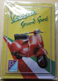 Metaalplaat Vespa Grand Sport