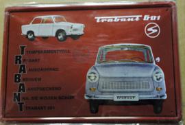 Metaalplaat Trabant 601