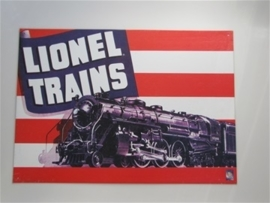 Metaalplaat Lionel trains
