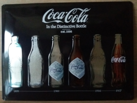 Metaalplaat Coca Cola 30x40cm in reliëf, metalic
