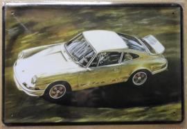 Metaalplaat Porsche Carrera