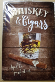 Metaalplaat Whiskey and cigars
