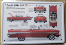 Metaalplaat Chevrolet Bel Air