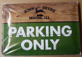 Metaalplaat John Deere Parking Only