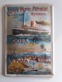 Metaalplaat Lloyd Norte Aleman Bremen