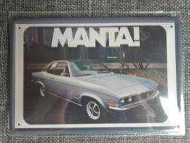 Metaalplaat Opel Manta
