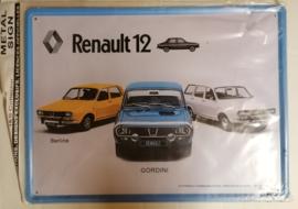 Metaalplaat Renault 12
