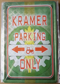 Metaalplaat Kramer Parking Only