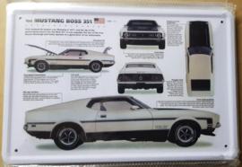Metaalplaat Ford Mustang Boss 351