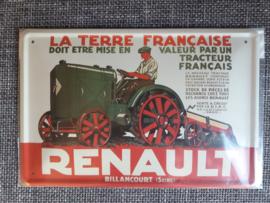 Metaalplaat tractor Renault