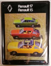 Metaalplaat Renault 17 Renault 15