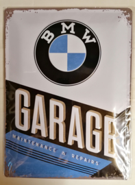 Metaalplaat BMW Garage