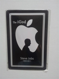 Metaalplaat Steve Jobs