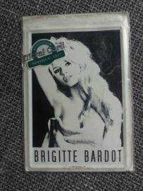 Metalen postkaart Brigitte Bardot