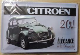 Metaalplaat Citroën 2CV élégance