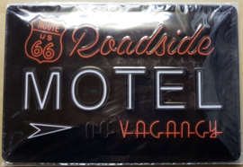 Metaalplaat Route 66: Motel Vacancy