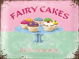 Metaalplaat Fairy Cakes