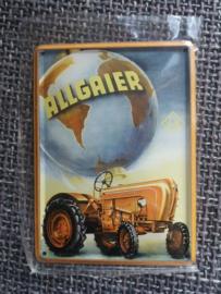 Klein metaalplaatje Allgaier 8 x 11 cm