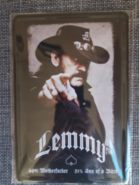 Metaalplaat Lemmy