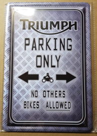 Metaalplaat Triumph Parking Only