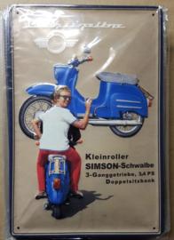 Metaalplaat Schwalbe/Simson