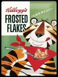 Metaalplaat Kellogg's Frosted Flakes